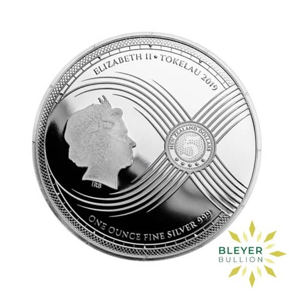 Bleyers Coins 1oz Silver Tokelau Chronos Coin 2019 1