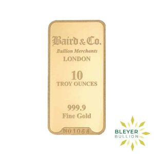 Bleyers Bar 10oz Baird Co Minted Gold Bar