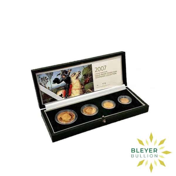 Bleyers Coin Proof UK Gold Sovereign Four Coin Collection 2007 Open