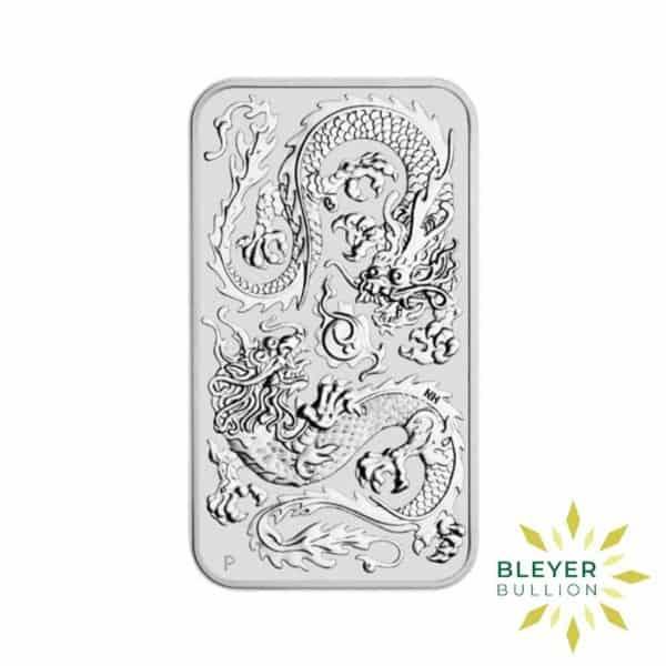 Bleyers Coin 1oz Dragon Rectangular Silver Coin 2020 1