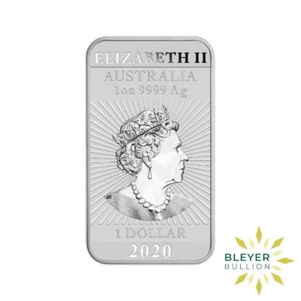 Bleyers Coin 1oz Dragon Rectangular Silver Coin 2020 2