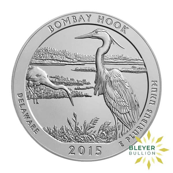 Bleyers Coin 5oz Silver American National Park Of America Bombay Hook Quarter 2015 1