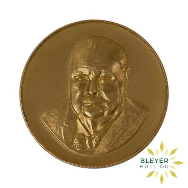 Bleyers Coin Best Value Winston Churchill 22 Carat Gold Medallion 1965 1