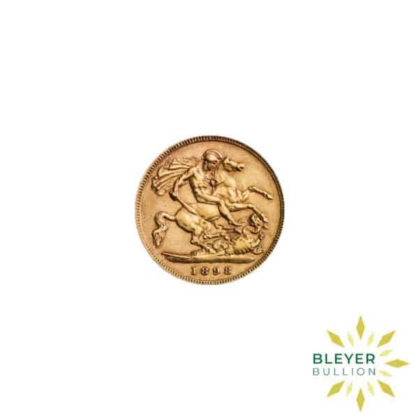 Bleyers Coin Cutouts Gold UK Sovereign Coins UK Gold Half Sovereign – Queen Victoria – Veiled Head Front
