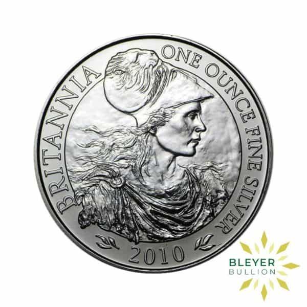 Bleyers Coin Silver UK Britannia Coins 1oz Silver UK Britannia Coin Boxed 2010 Front2