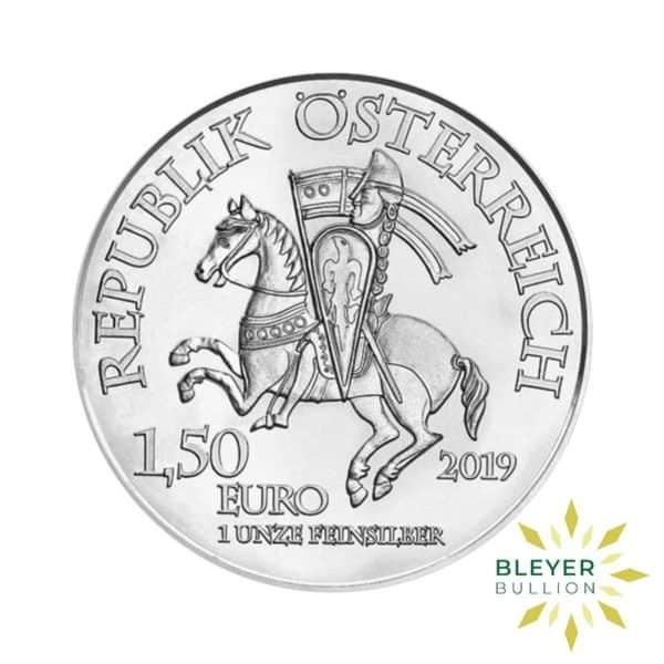 Bleyers Coins 1oz Silver Austrian Robin Hood Coin 2019 Back