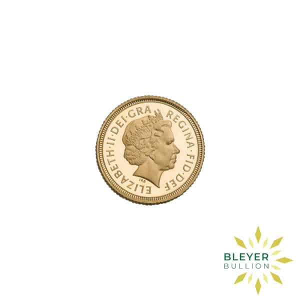 Bleyers Coin Cutouts Gold UK Sovereign Coins Half UK Gold Sovereign – Queen Victoria Shield Reverse 2002 Back