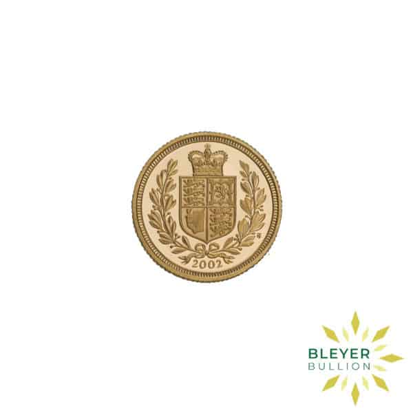 Bleyers Coin Cutouts Gold UK Sovereign Coins Half UK Gold Sovereign – Queen Victoria Shield Reverse 2002 Front