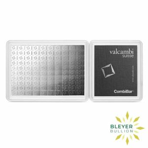 Bleyers Bars 100g Silver Valcambi Minted CombiBar 1