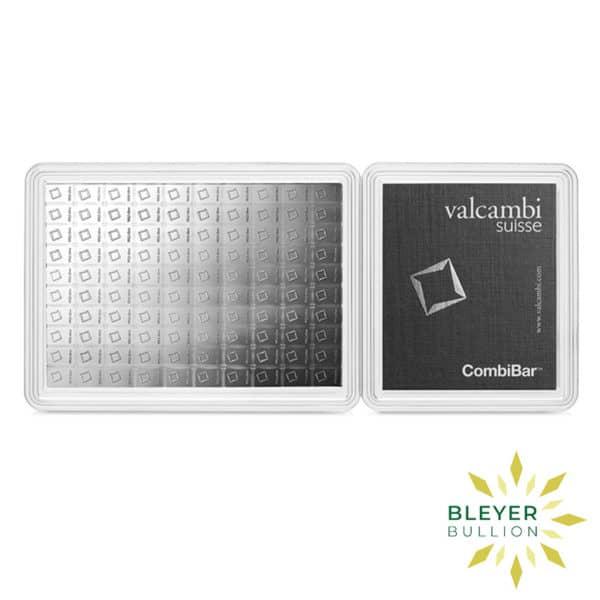 Bleyers Bars 100g Silver Valcambi Minted CombiBar 1