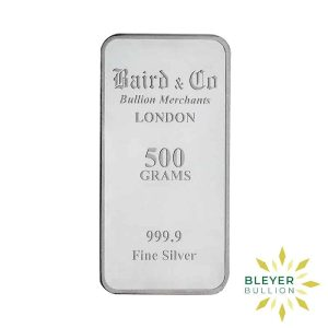 Bleyers Bar 500g Baird Co Minted Silver Bar BV2