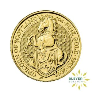 Bleyers Coin 1oz Gold Unicorn 1
