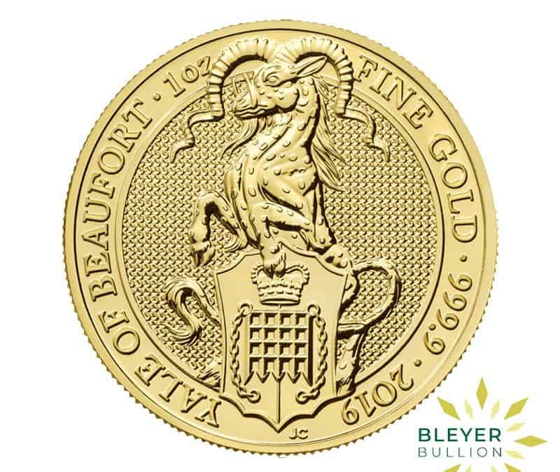 1oz Gold UK Queen's Beasts Yale of Beaufort Coin, 2019