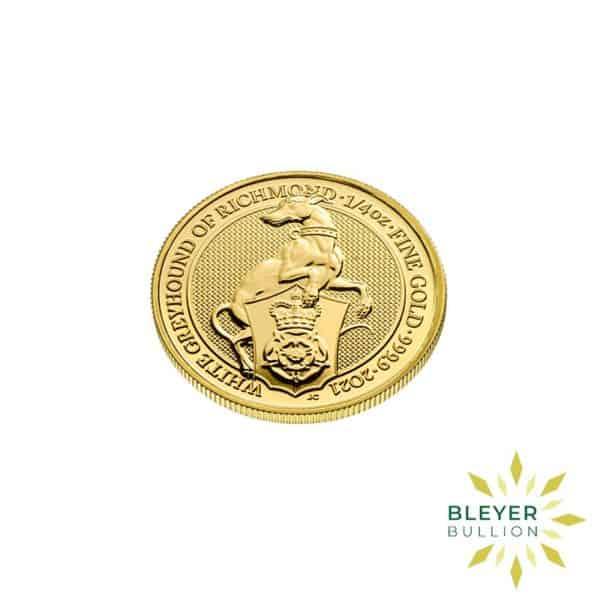 Bleyers Coins 1 4oz Gold UK Queens Beasts Greyhound 2021 3
