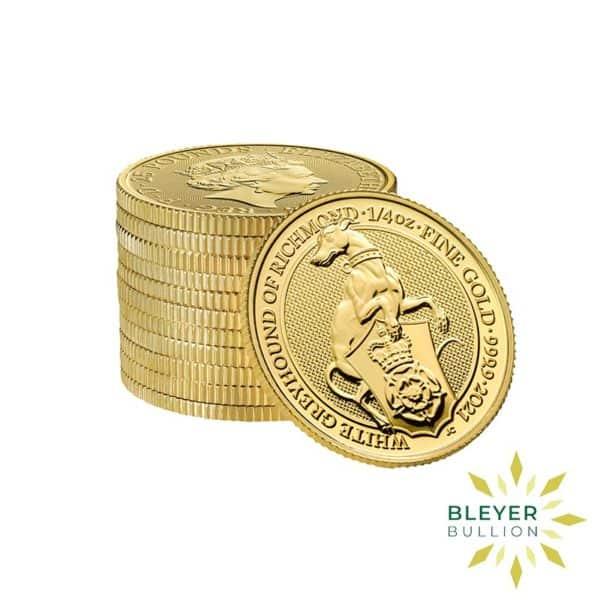 Bleyers Coins 1 4oz Gold UK Queens Beasts Greyhound 2021 5