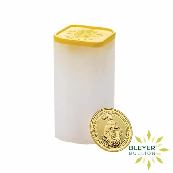 Bleyers Coins 1 4oz Gold UK Queens Beasts Greyhound 2021 6