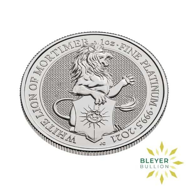 Bleyers Coin 1oz Platinum UK Queens Beasts White Lion of Mortimer 2021 4