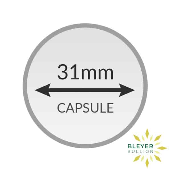 Bleyers Coin 31mm Capsule