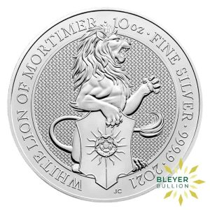 Bleyers Coins 10oz Silver UK Queens Beasts The Falcon of the Plantagenets 2020 1