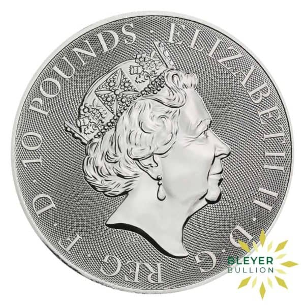 Bleyers Coins 10oz Silver UK Queens Beasts The Falcon of the Plantagenets 2020 2