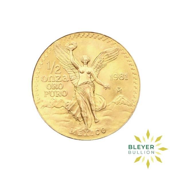 1 2oz Gold Mexico Libertad Coin 1981 FRONT