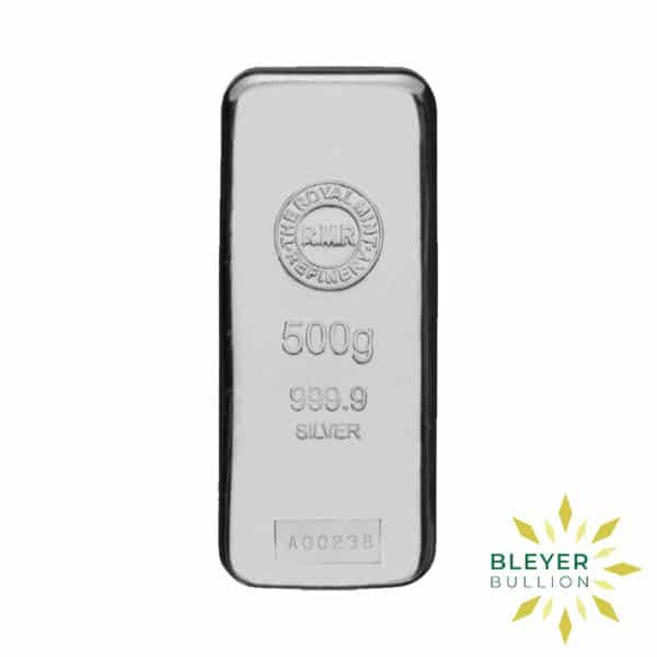 Bleyers Bar 500g The Royal Mint Cast Silver Bar 1