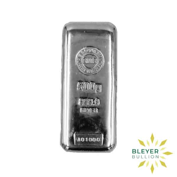 Bleyers Bar 500g The Royal Mint Cast Silver Bar 2