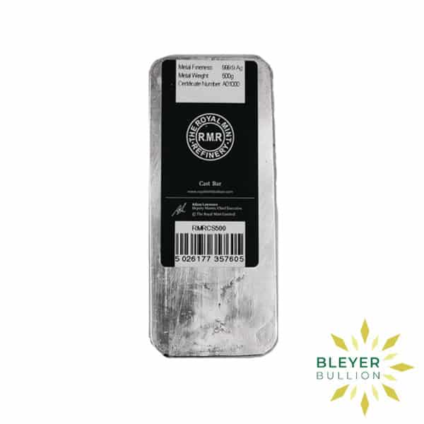 Bleyers Bar 500g The Royal Mint Cast Silver Bar 3