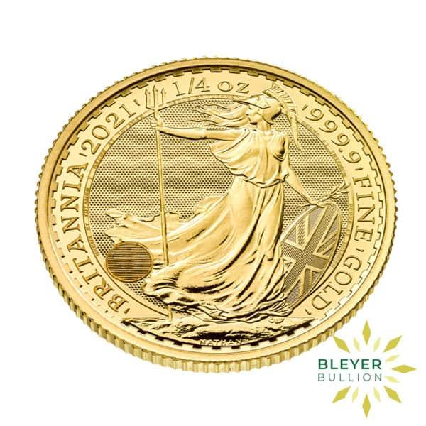 Bleyers Coin 1 4oz Gold UK Britannia Coin 2021 3