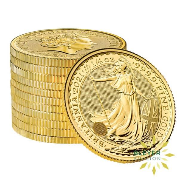 Bleyers Coin 1 4oz Gold UK Britannia Coin 2021 4