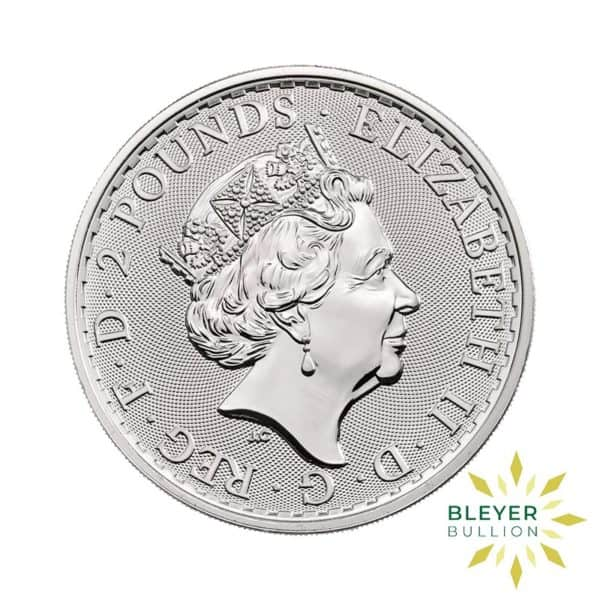 Bleyers Coin Cutouts 2020 Silver UK Britannia Coins 1oz Back