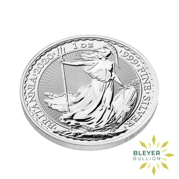 Bleyers Coin Cutouts 2020 Silver UK Britannia Coins 1oz Side