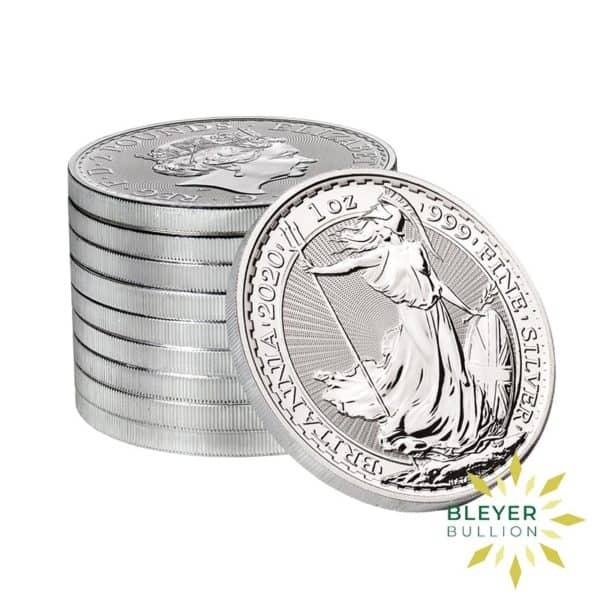Bleyers Coin Cutouts 2020 Silver UK Britannia Coins 1oz Stack