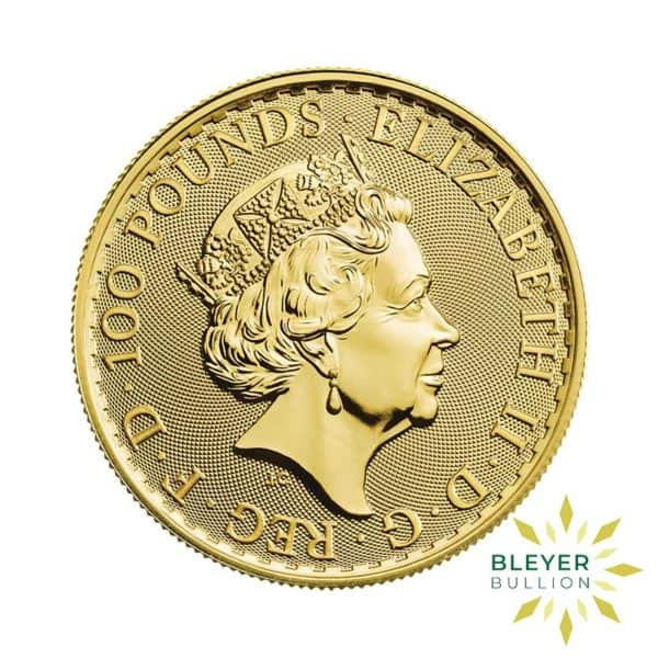 Bleyers Coin Cutouts 2021 Gold UK Britannia Coins 1oz Back