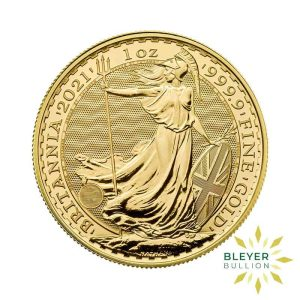 Bleyers Coin Cutouts 2021 Gold UK Britannia Coins 1oz Front