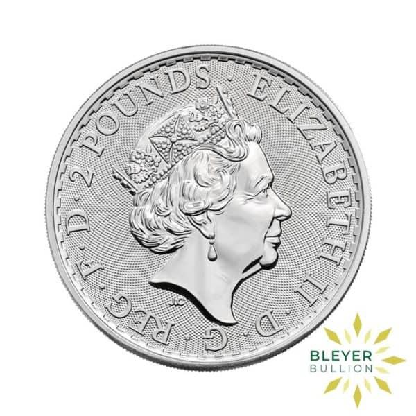 Bleyers Coin Cutouts 2021 Silver UK Britannia Coins 1oz Back