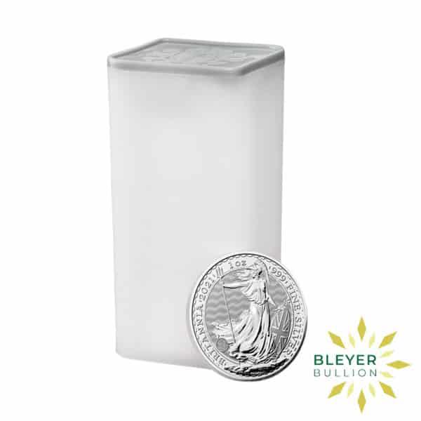 Bleyers Coin Cutouts 2021 Silver UK Britannia Coins 1oz Tube