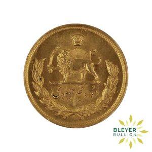 Bleyers Coin Gold Iranian 2.5 Pahlavi Coin 1969 3