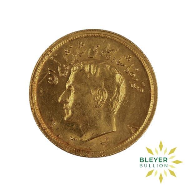 Bleyers Coin Gold Iranian 2.5 Pahlavi Coin 1969 4 1