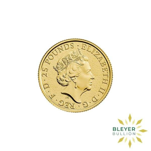 Bleyers Coins 1 4oz Gold UK Queens Beasts Dragon 2017 2