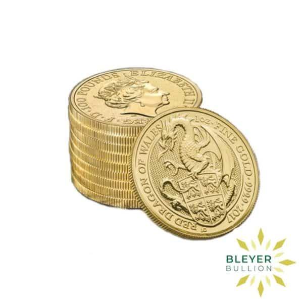 Bleyers Coins 1 4oz Gold UK Queens Beasts Dragon 2017 4