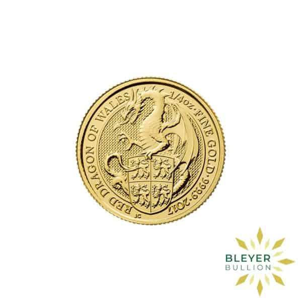 Bleyers Coins 14oz Gold UK Queens Beasts Dragon 2017 1