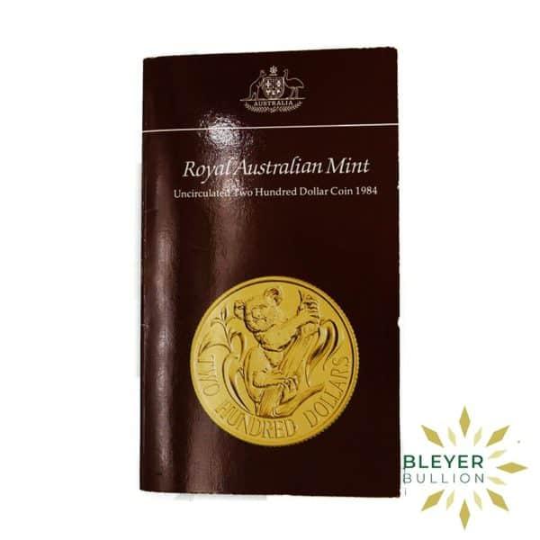 Bleyers Coins Australian 10g 200 Gold Koala 1984 4