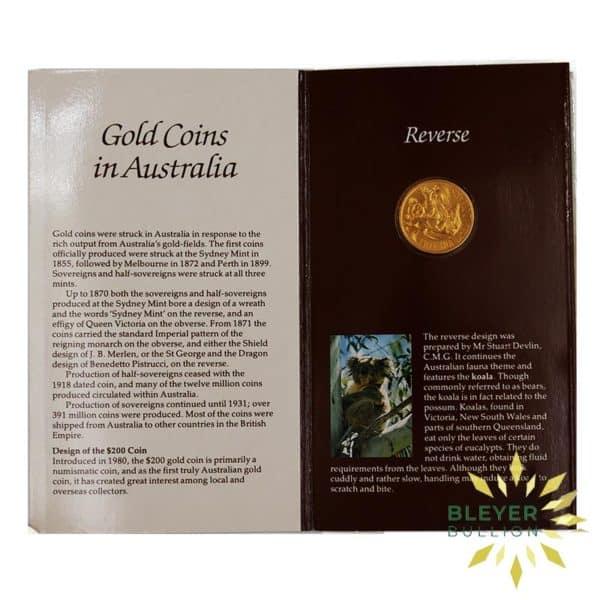 Bleyers Coins Australian 10g 200 Gold Koala 1984 5