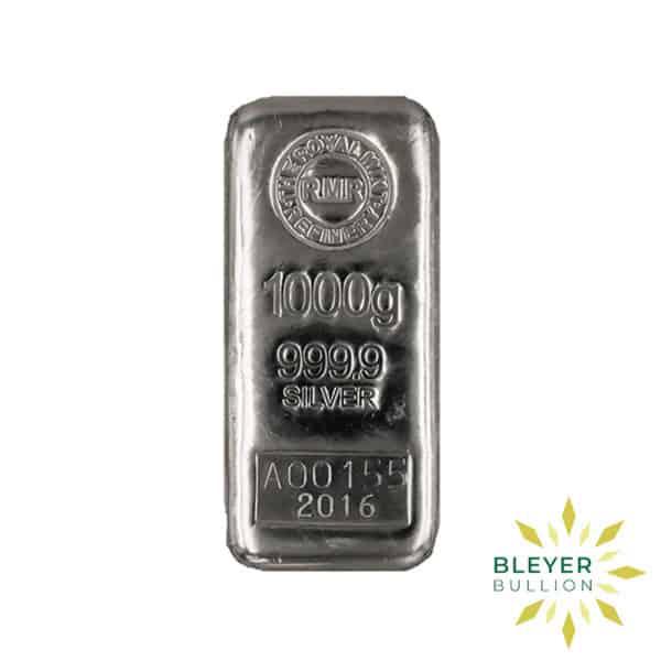 Bleyers Bar 1kg The Royal Mint Cast Silver Bar 2