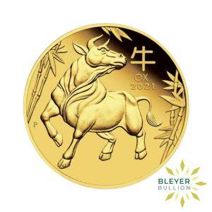 Bleyers Coin 1ozPre order 1oz Gold Australian Lunar Ox Coin 2021
