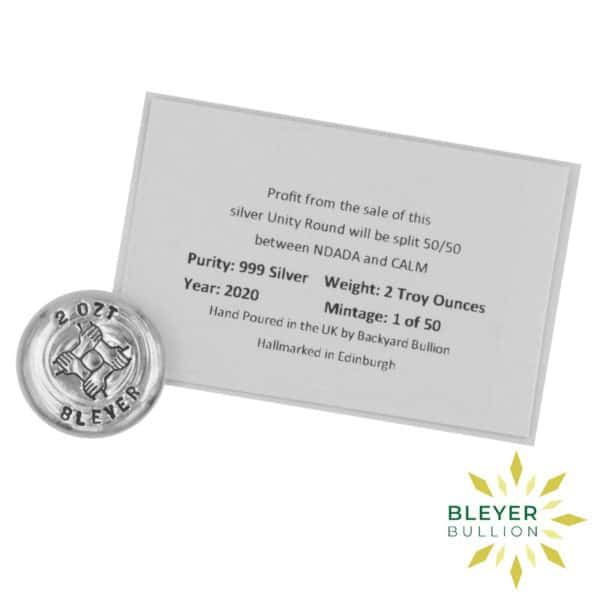 Bleyers Coins 2oz Silver Bleyer Hand Poured Unity Round 2020 3