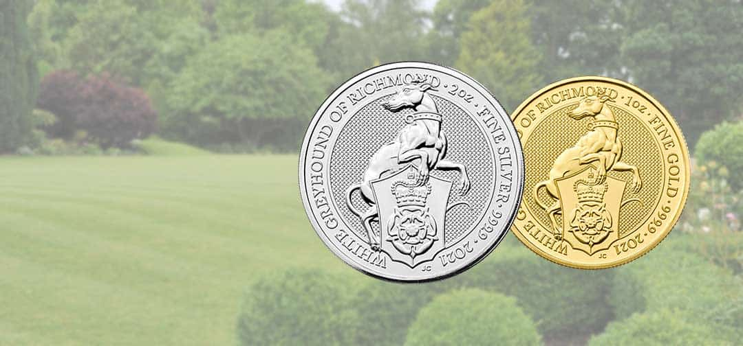 NEW The Royal Mint Queen's Beast 2021 'White Greyhound' Coins