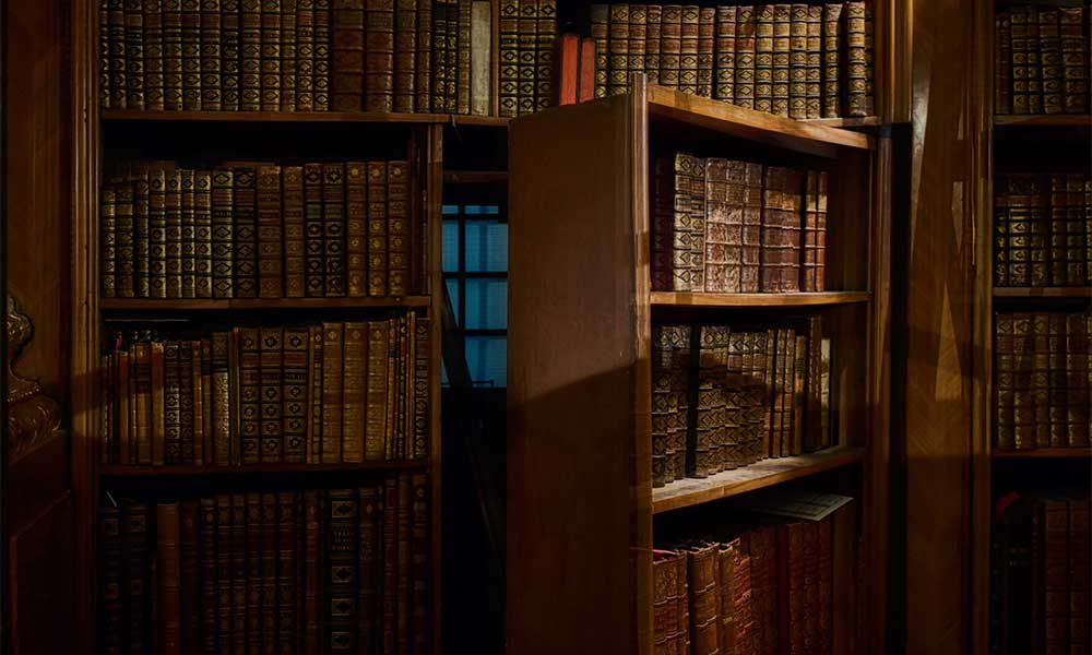 Keep your bullion secret and store it behind a bookcase