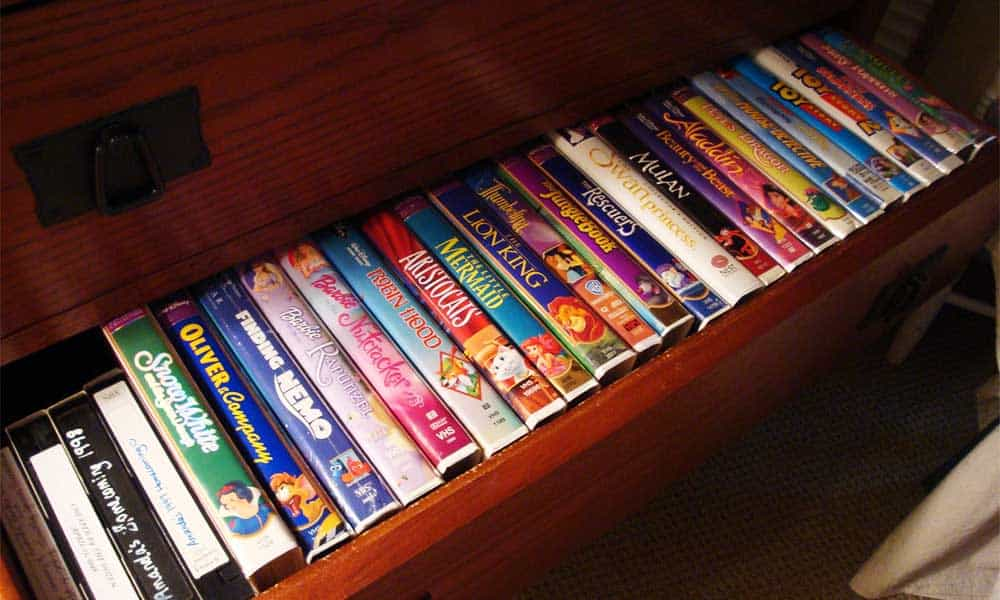 Keep your bullion secret and store it in old VHS video tape containers